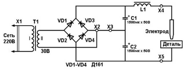 Мощность трансформатора T1